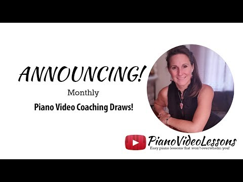 Announcing: Monthly Piano Video Coaching Draws from PianoVideoLessons for Patrons-details in video!