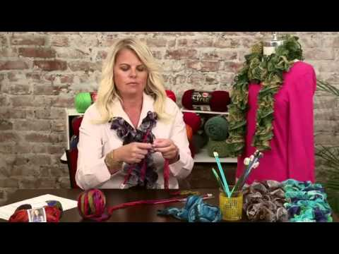 How To Crochet A Scarf With Sashay By Red Heart Boutique Red