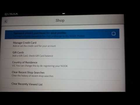 Nook HD+ Protect Purchases With Password