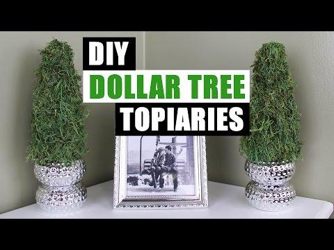 DIY DOLLAR TREE TOPIARIES | Dollar Store DIY Spring Topiary Tutorial | DIY Spring Summer Decor