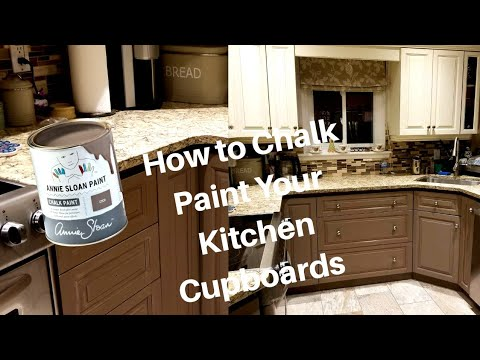 How to Chalk Paint your Kitchen Cupboards