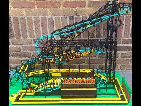 Working Inverted LEGO Roller Coaster!