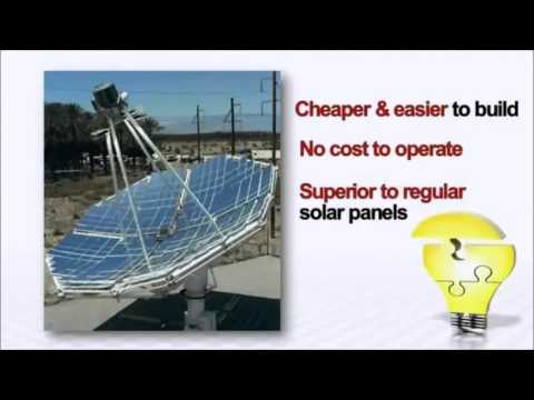 12x the Power of Normal Solar Panels - Solar Stirling Plant - Guide to FREE Electricity