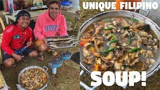 FILIPINO Family And Friends Camping In The Mountains , Delicious ILONGGO SOUP