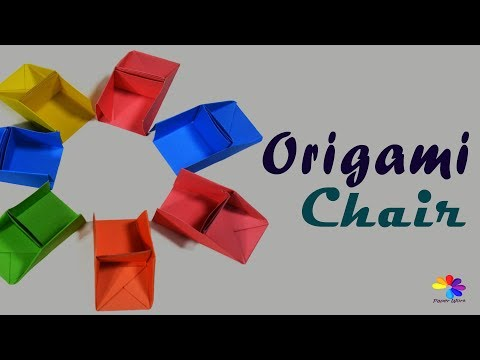 How to make a paper Chair - origami chair step by step - DIY - Paper Work