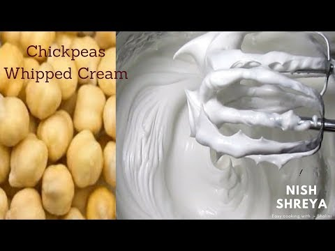 Aquafaba Whipped Cream   Dairy- Free Whipped Cream   Whipped Cream From Chickpeas Water
