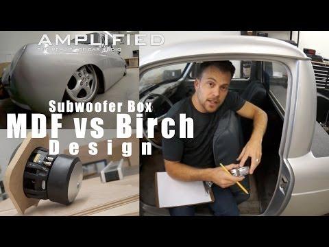 MDF vs Birch, Subwoofer Box Design for the Mule