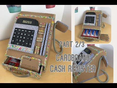 Cardboard cash register  Part 2/3