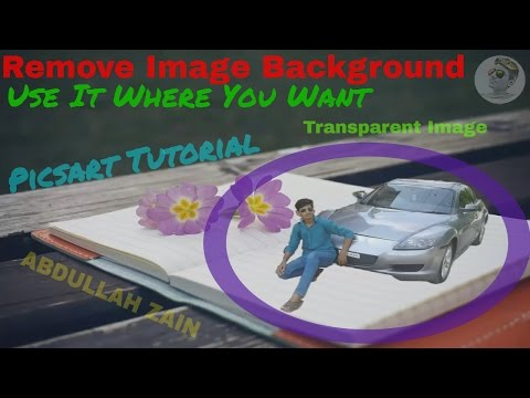 How to make image transparent {Remove Background} By using Picsart in mobile