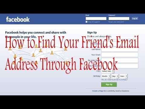 How to Find Your Friend's Email Address Through Facebook