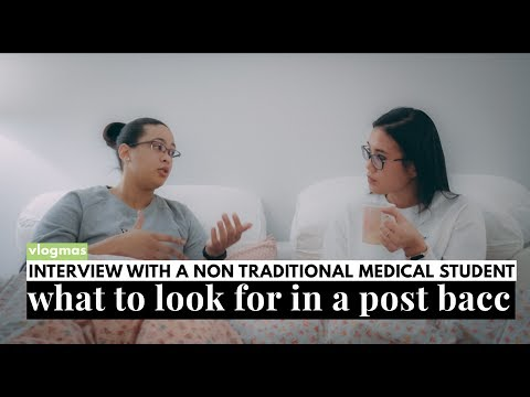 Interview with a non-traditional med school student! | What to look for a Post Bacc Program!