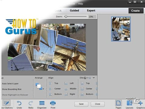 How to Use the Photo Collage Tool in Adobe Photoshop Elements 15 14 13 12 11 Tutorial