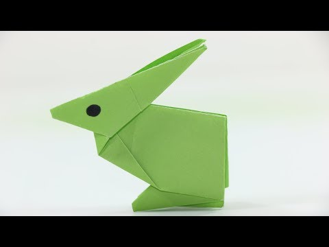 How to make a paper Rabbit - Easy tutorial | Origami Animals | Origami Very Simple Rabbit  for kids