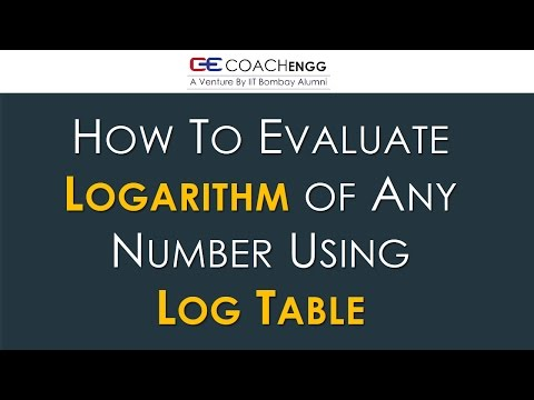 How to use log table Part 1 | Find Logarithm of Any Number Using Log Table | By Nitesh Choudhary