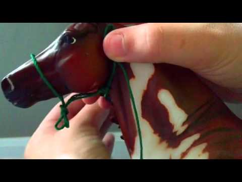 How to make a REALISTIC breyer rope halter!!!!!