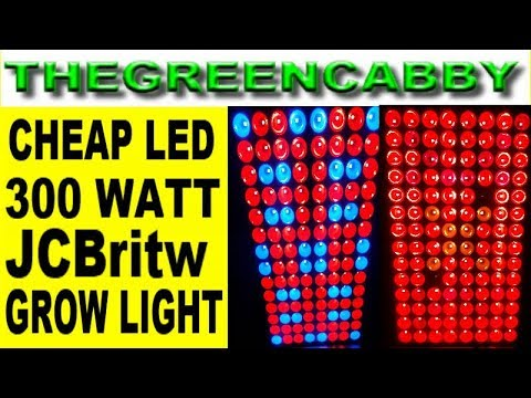CHEAP 300 watt LED GROW LIGHT JCBritw for INDOOR GROW GARDENING Review & Unboxing