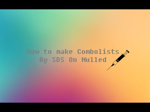 How to Make Combolists