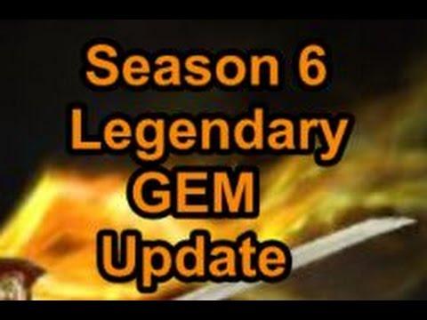 Diablo 3 Season 6 Legendary GEM build updates