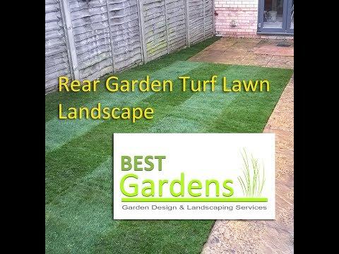 Rear Garden Turf Lawn Landscape