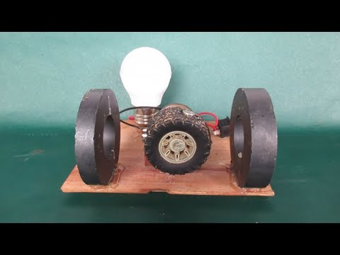 100% work Light bulbs LED with magnet motor - DIY projects Light bulbs easy at home
