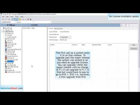 How to Resolve No License Available error on your Avaya phone