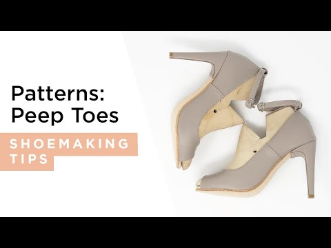 I CAN MAKE SHOES - Pattern Making, high heel peep toed shoes.