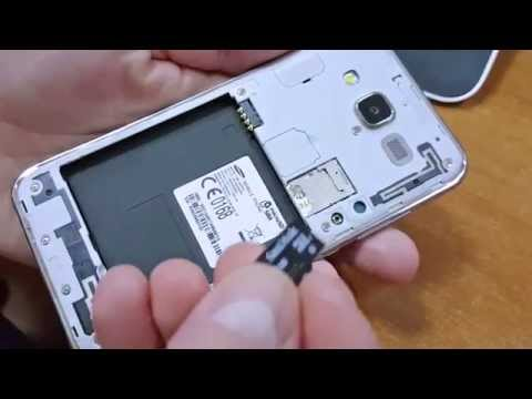 Galaxy J5 - How to insert micro SD card