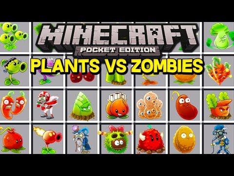 PLANTS VS ZOMBIES IN MINECRAFT! (Minecraft PE MODS)