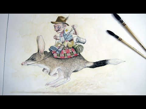 Art Lesson How to Paint a Bilby in Watercolour