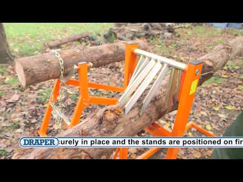 How to use the Draper 150kg and 300kg Log Stands - 32273, 32274