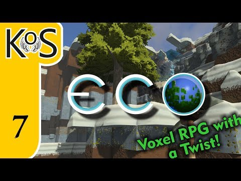 Eco Ep 7: Extending the Workshop! - Voxel Builder/RPG - Let's Play, Gameplay