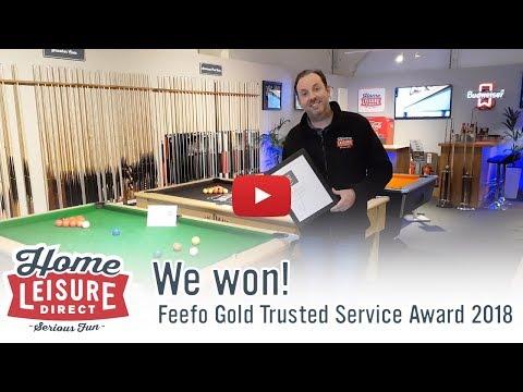 We've won the Feefo Gold Trusted Service Award 2018!