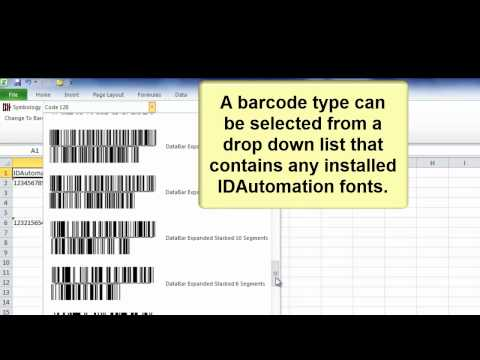 How to Create Barcodes in Microsoft Excel using Barcode Fonts and Excel Add-In