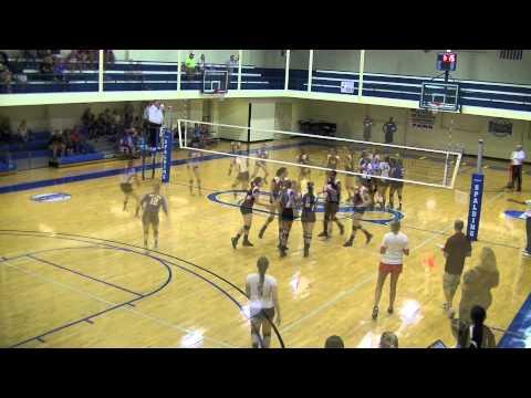 Spalding University vs Indiana University Southeast Volleyball Highlights (9-9-14)