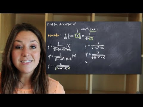 Derivatives of inverse trig functions - arcsin (KristaKingMath)