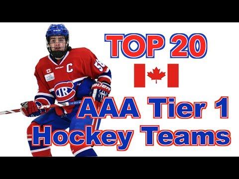 Top 20 AAA Tier 1 Hockey Teams - Canada
