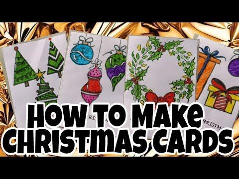 How to Make Quick Mini Christmas Cards Tutorial| Srijan Art Studio