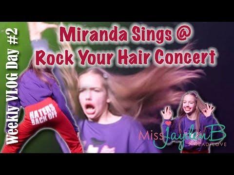 Miranda Sings at Rock Your Hair Summer Concert! Vlog Week 2