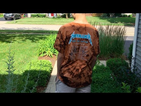 HOW TO DIY BLEACH TIE DYE YOUR SHIRTS!