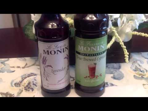 FIRST IMPRESSION! Lavender Vanilla Iced Latte using MONIN FLAVORS!