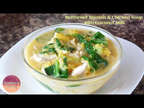 Butternut Squash & Chicken Soup with Coconut Milk