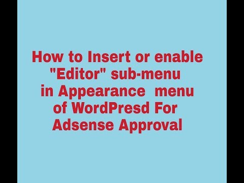 How to Insert or Enable