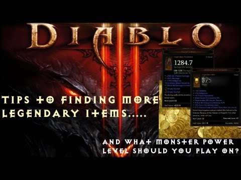 Find More Legendary Items + What MP Level to Play On in Diablo 3