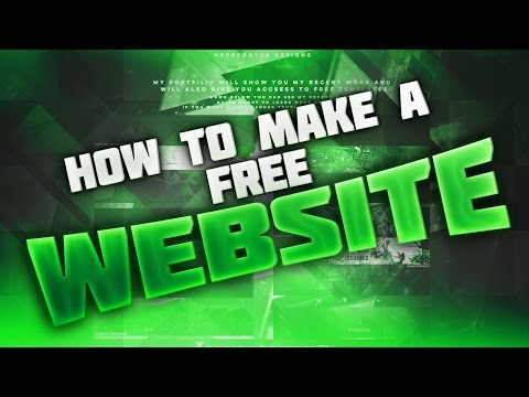 How To Make Your Own Website for FREE With Custom Free Domain! 2016