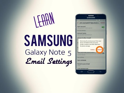 Samsung Galaxy Note 5  - Email Settings