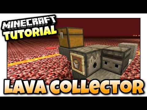 Minecraft Xbox - LAVA COLLECTOR  - Redstone Tutorial - MCPE / PS4 / PS3 / Switch