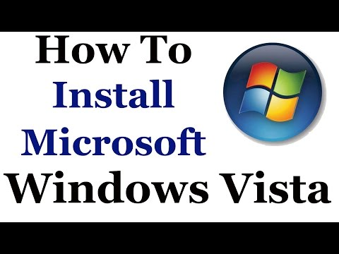 How To Format and Install Windows Vista