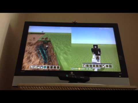 Minecraft Xbox 360 glitch (April 2015) Upsidedown horse and more!