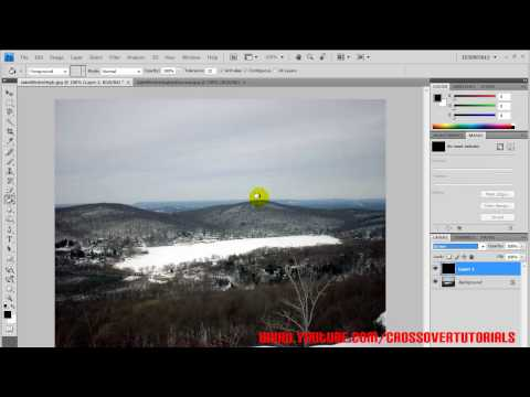How to create Snow in Adobe Photoshop CS4!