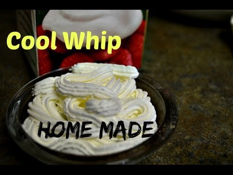 Cool Whip Home Made Recipe. 5 Minute Whipping Cream from Heavy Cream video by chawlas-kitchen.com